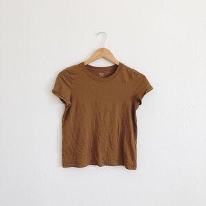 Madewell mustard t-shirt